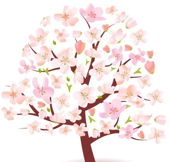 桃花树的简笔画有哪些
