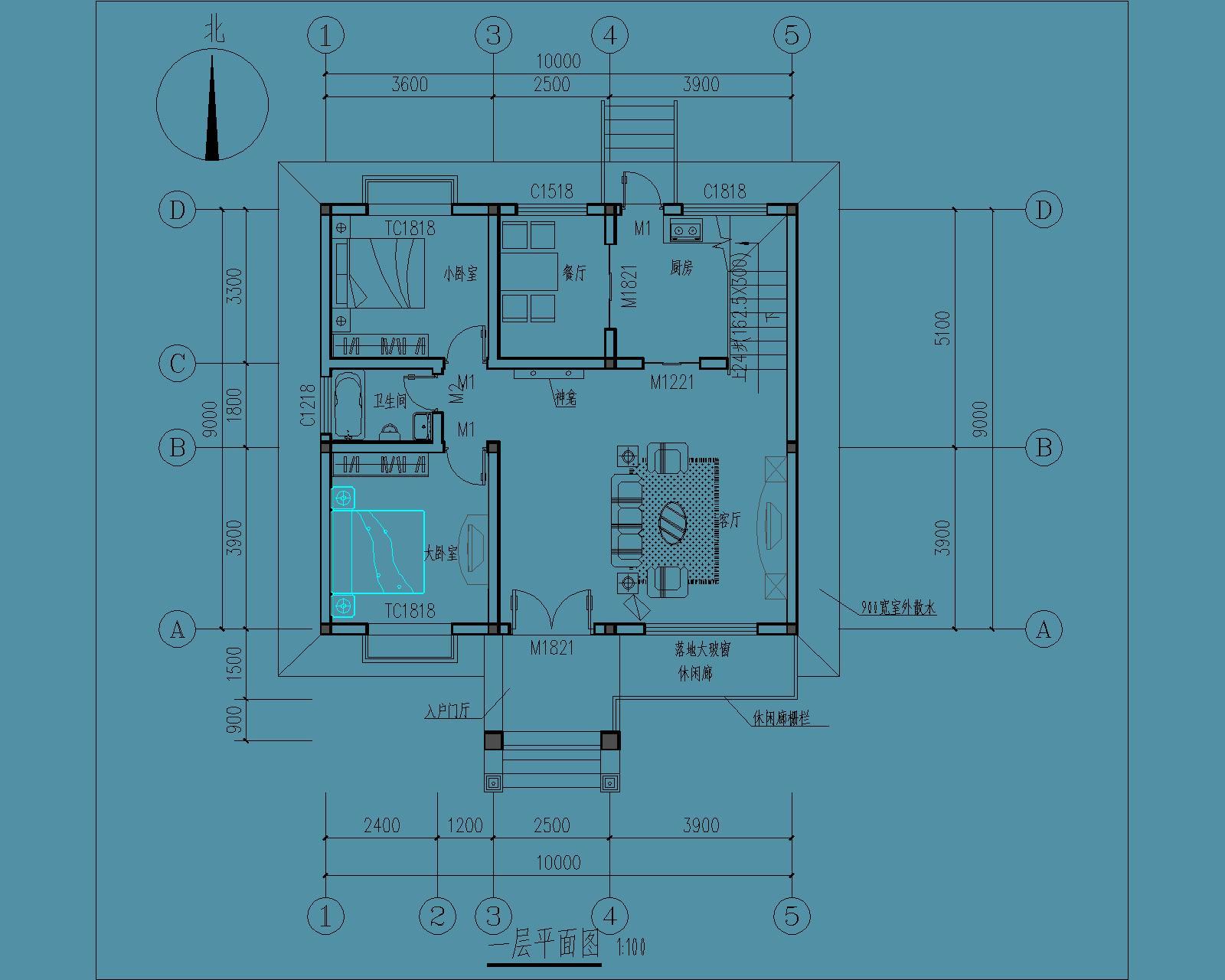 层高设计在3.5米就好了,最好能有前后左右的视角图.谢谢. 展开图片