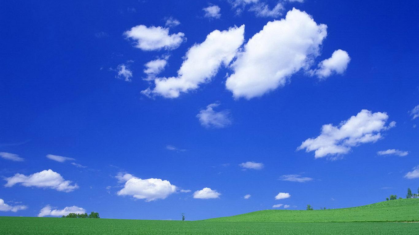 求一张高分辨率xp经典蓝天白云壁纸,最好做成1366x768图片