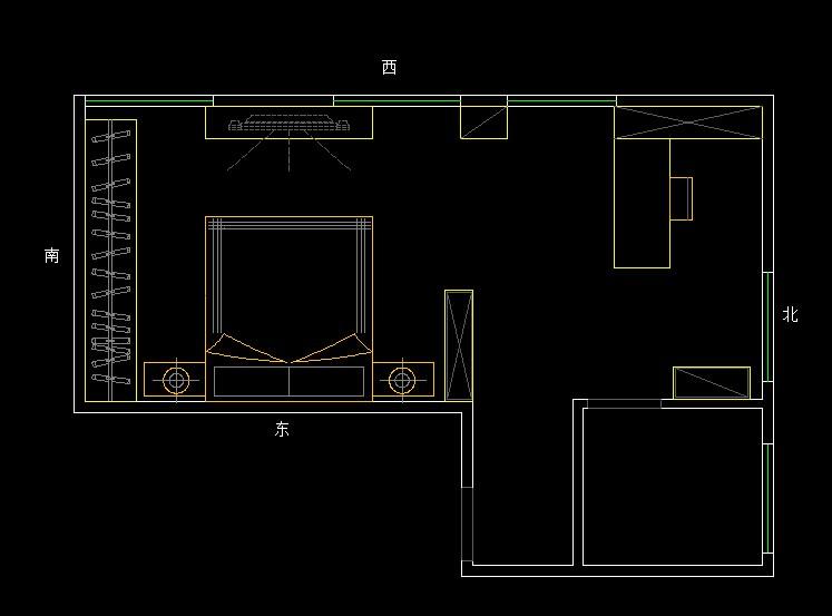 求卧室cad平面布置设计图(带图)