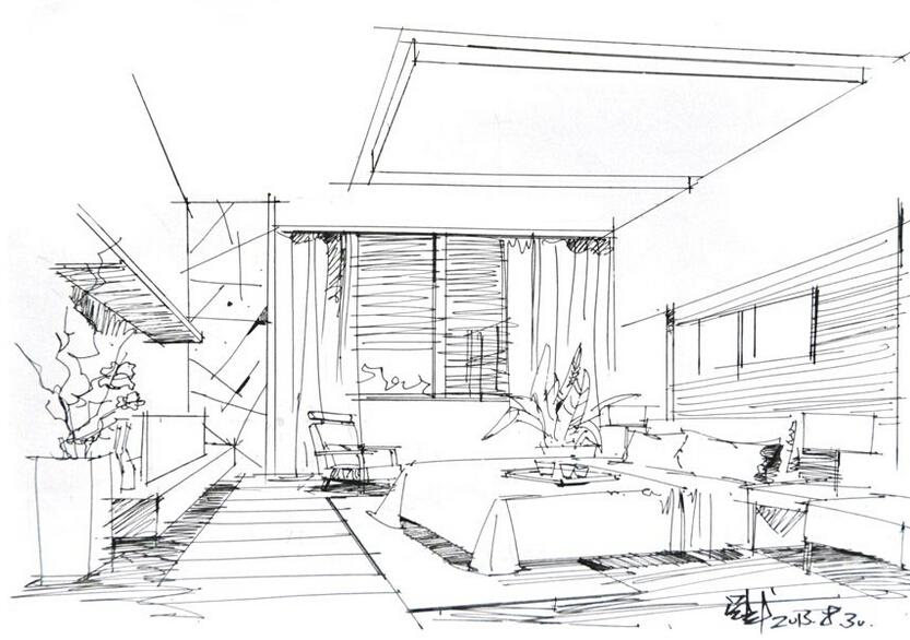 室内设计手绘图线稿用什么笔