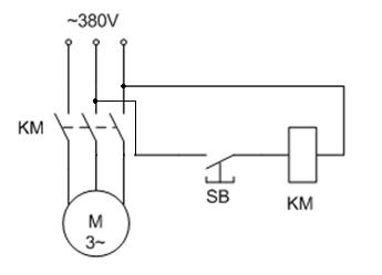 图示控制电路能否使电动机进行正常点动控制?如果不行