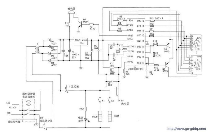 突跳式温控器在电路图中怎么画?