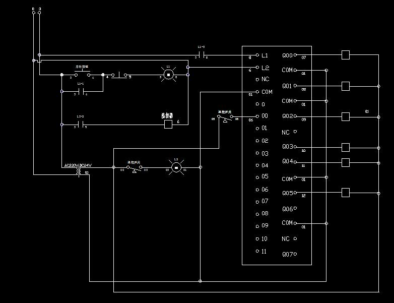 求欧姆龙cp1e各端子接线图?