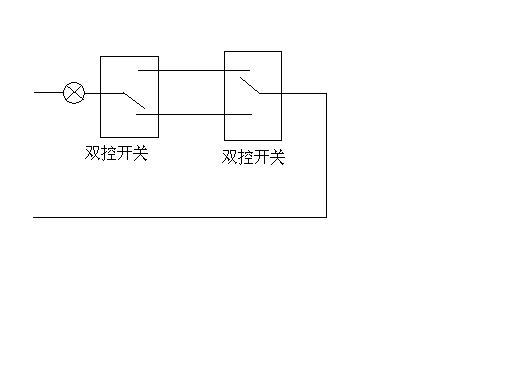 由两个开关分别对同一个灯实现控制,电路图如何绘制.