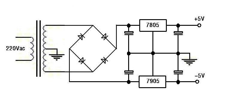 你这里的交流变压器副边应该是带有中心抽头的,正常接法如下图,d8和d