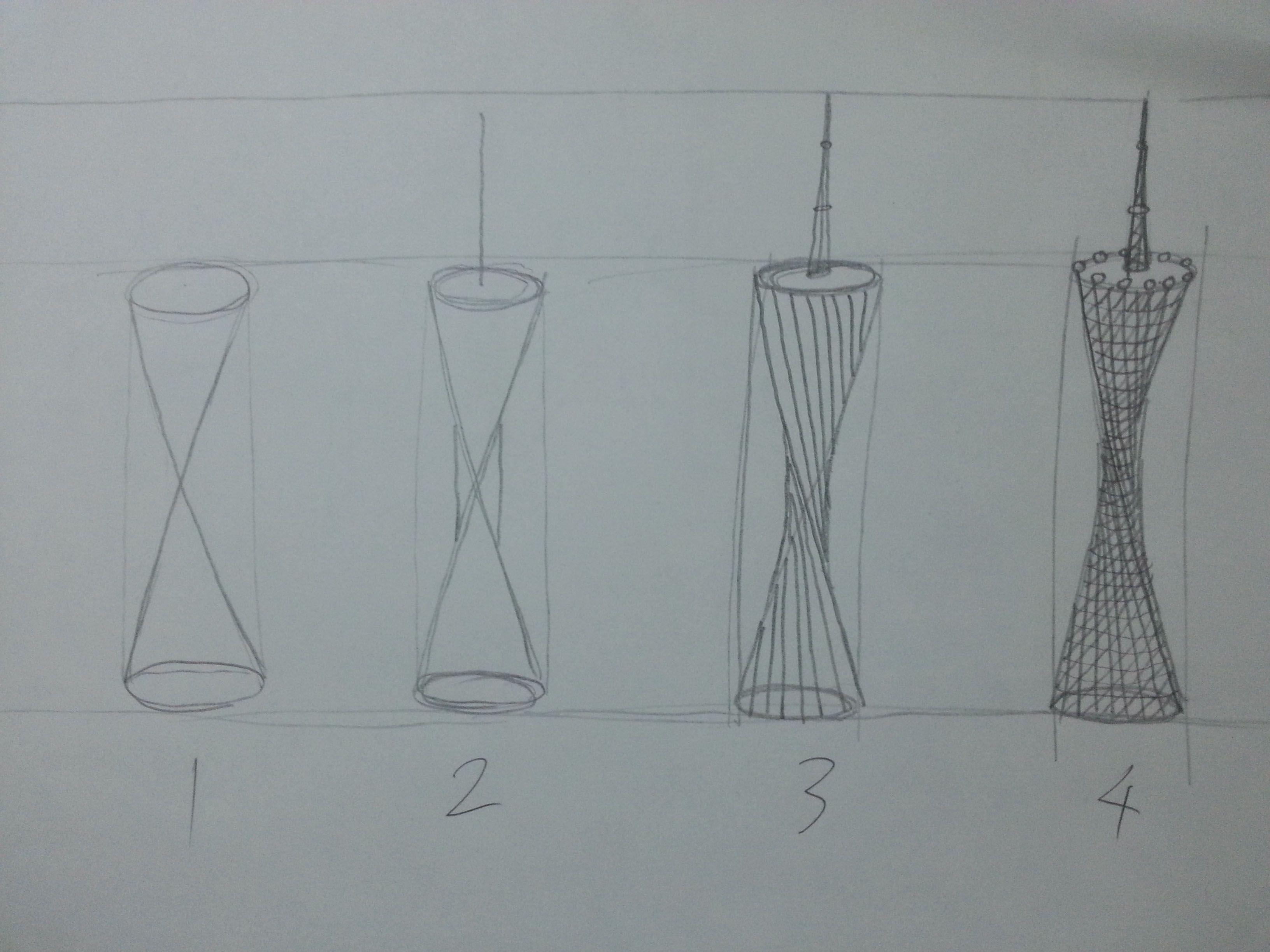 广州塔怎么画?