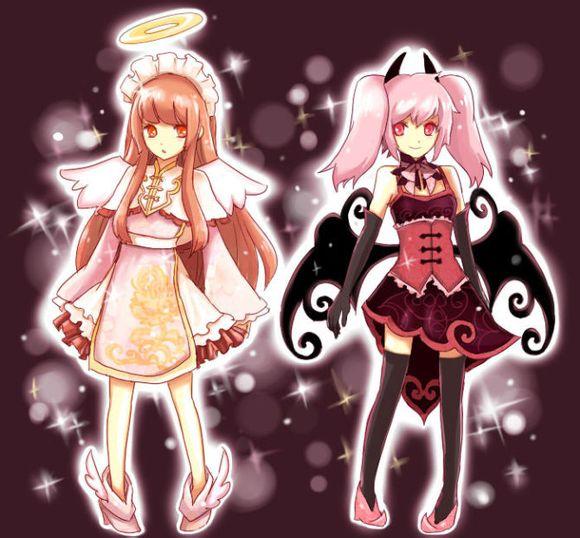 动漫天使与恶魔图片(要唯美风的那种,简单易画,最好就