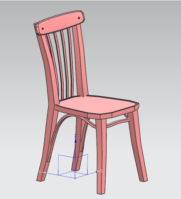 如何画椅子沙发三视图