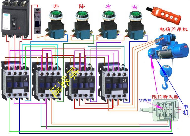 求一份塔吊配电箱实物接线图,详细点的,哪家的都行