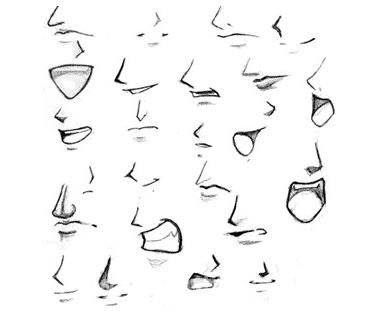 二次元男生嘴巴怎么画