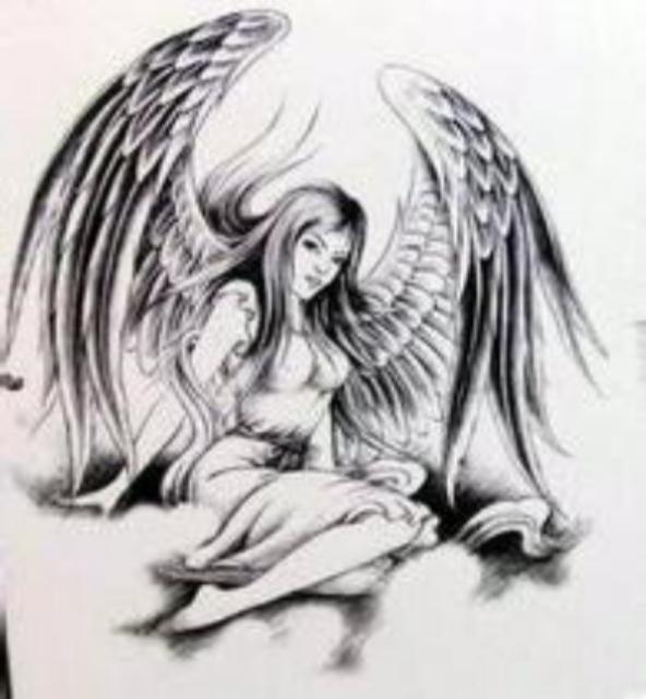 天使或死神的手绘素描,不要那种简单的,最好复杂点的