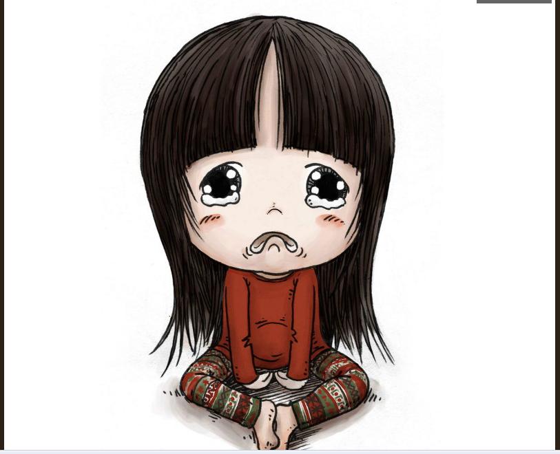 求一张卡通图片的名字,就是一个小女孩,头很大,身体很图片
