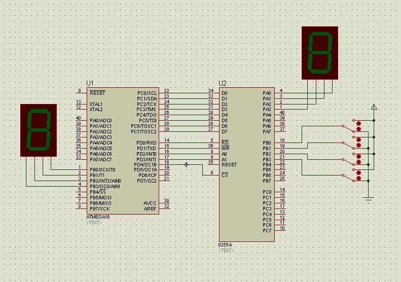 8255a io 口扩展电路