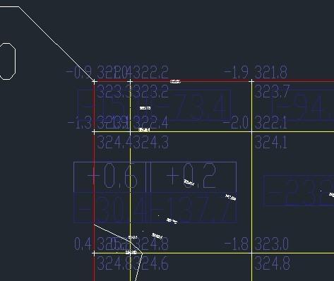 一次性缩小CAD方格土方网的角点标注文儿童服装设计素材图片