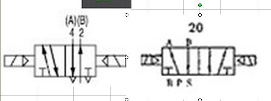 请问这两个都是两位五通电磁阀符号吗?有区别吗?图片