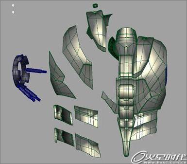 求钢铁侠盔甲设设计图.