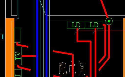 电气cad图纸中 ld与rd代表什么意思