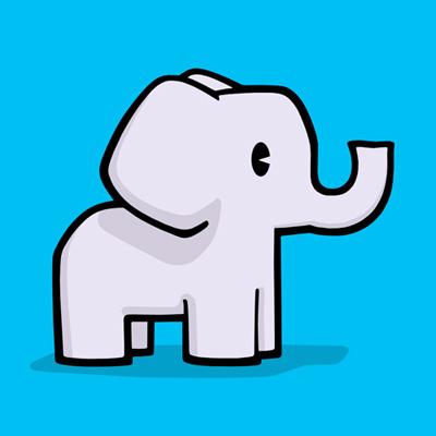 急求大象的简笔画.多一些.