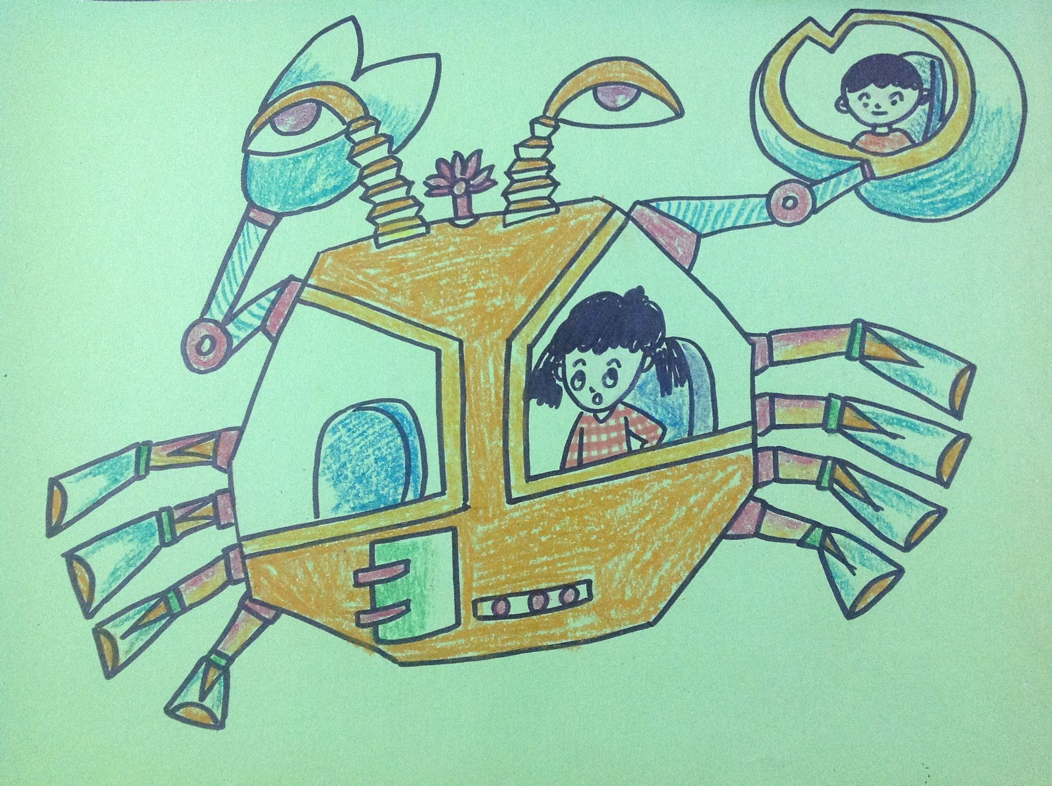 求5年级儿童画——未来的交通工具图片