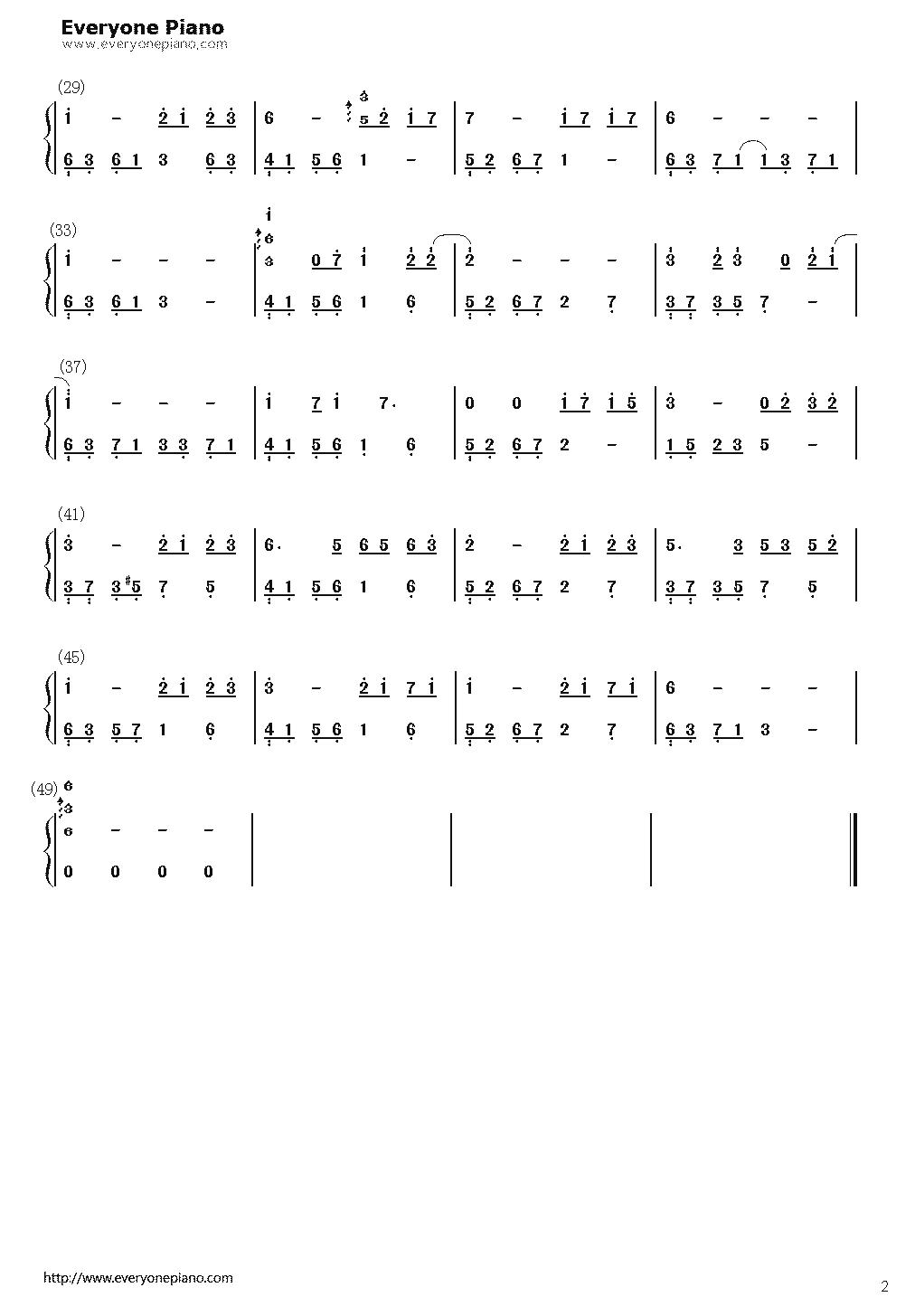 求石进《夜之钢琴曲(四)》的简谱