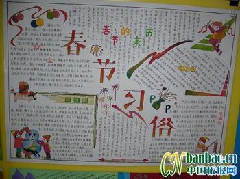 春节手抄报8开,正月十六就交了,急!(中文)图片
