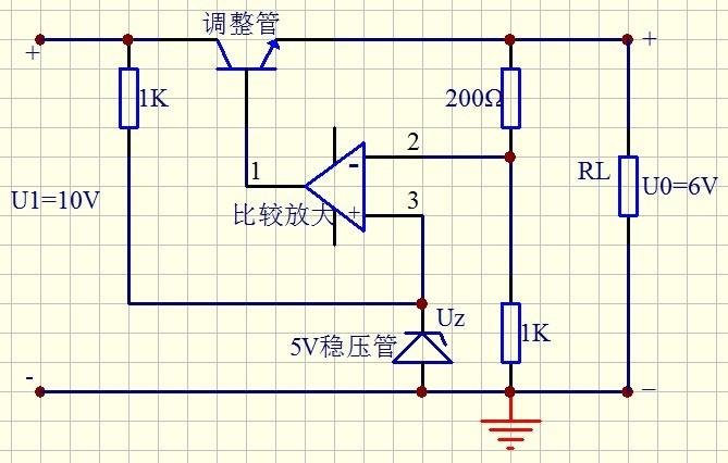 急!求一个6v直流稳压电路图,详细参数的,不要稳压电源的.