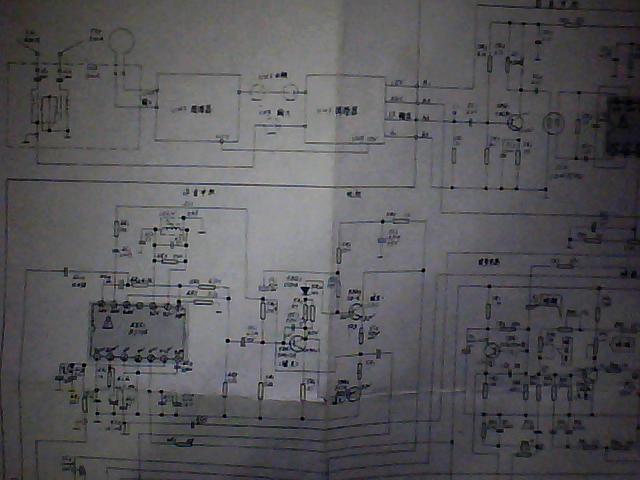 金星8寸小黑白电视机电路图