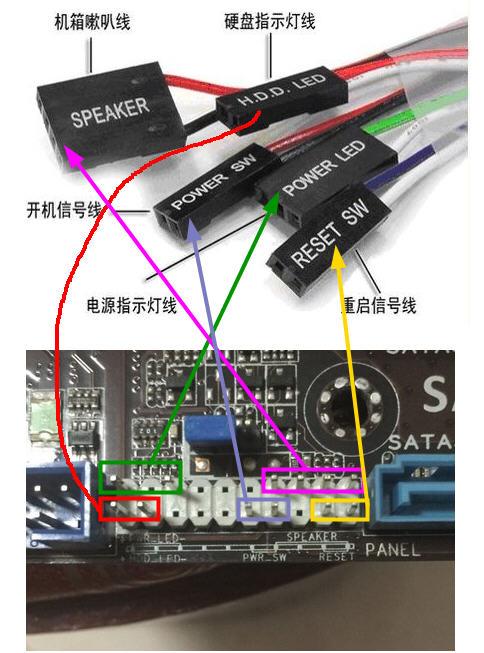 华硕b75-v接线图求解
