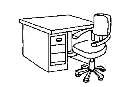 长方形桌子手绘平面图