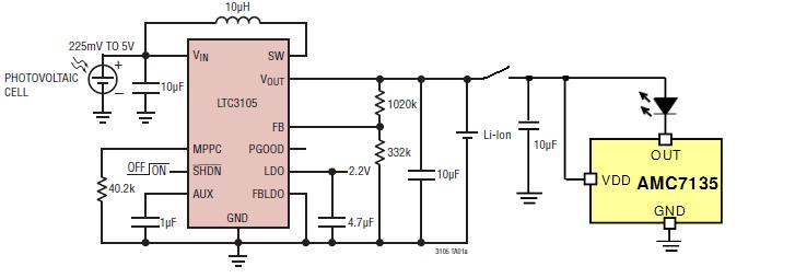 太阳能充电手电筒原理图详细