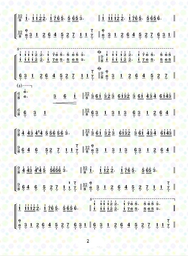 钢琴曲《梦中的婚礼》简谱和五线谱