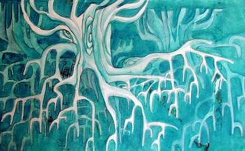 创意装饰画也和普通装饰画无区别,使用水粉绘画