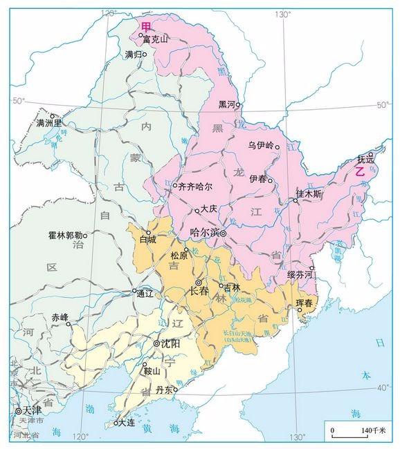 东北三省地图