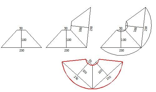 圆锥体计算展开面积