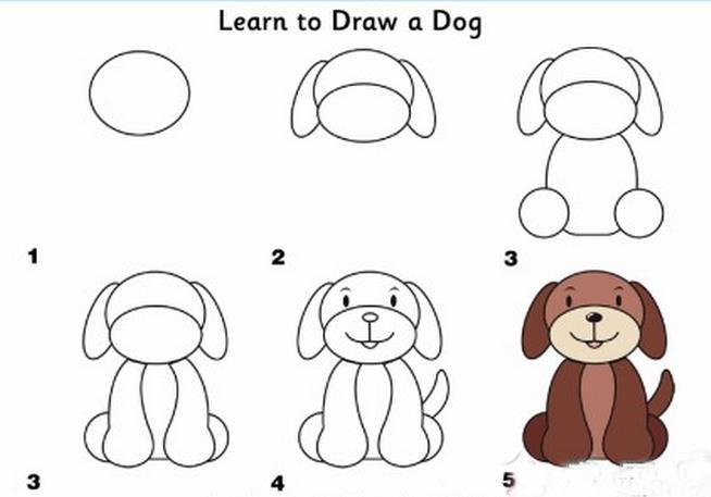 可爱的的小狗简笔画 作业