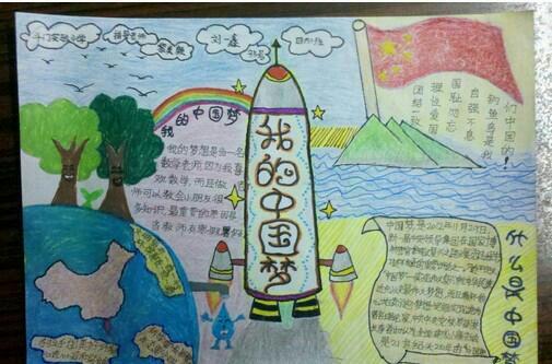 画画主题 中国梦> 画好看一点