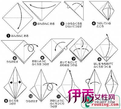 天鹅折纸图解