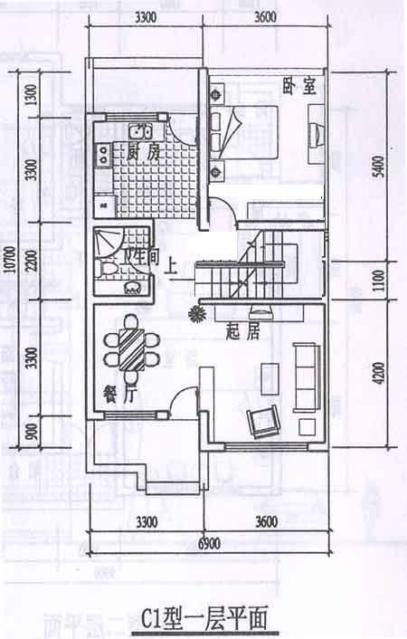 求房屋设计图,地基是7米宽*14米长,做三层图片