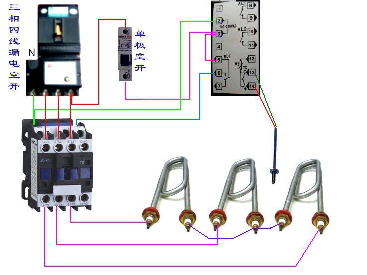 温控器怎么接线?接触器又怎么接?