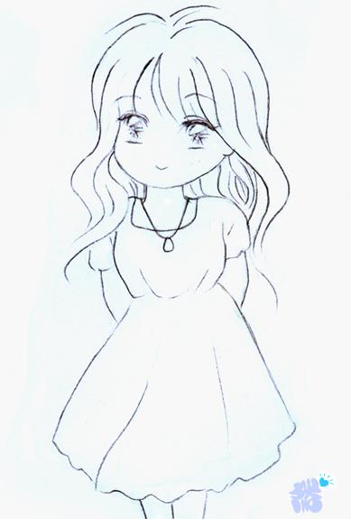动漫图片女生手绘