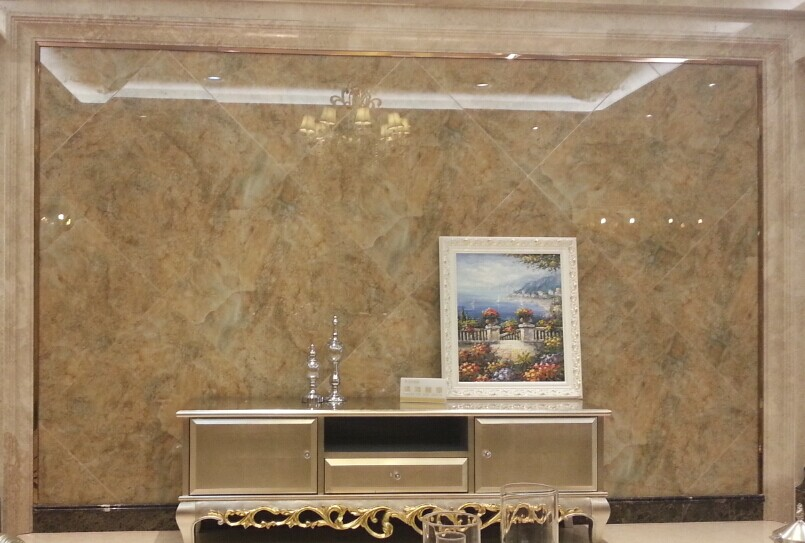 欧式电视背景墙造型用石膏线条,还是用木线条喷漆好?