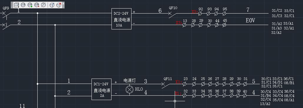 电气原理图中一根线上端子编号连续是什么意思?(如图)