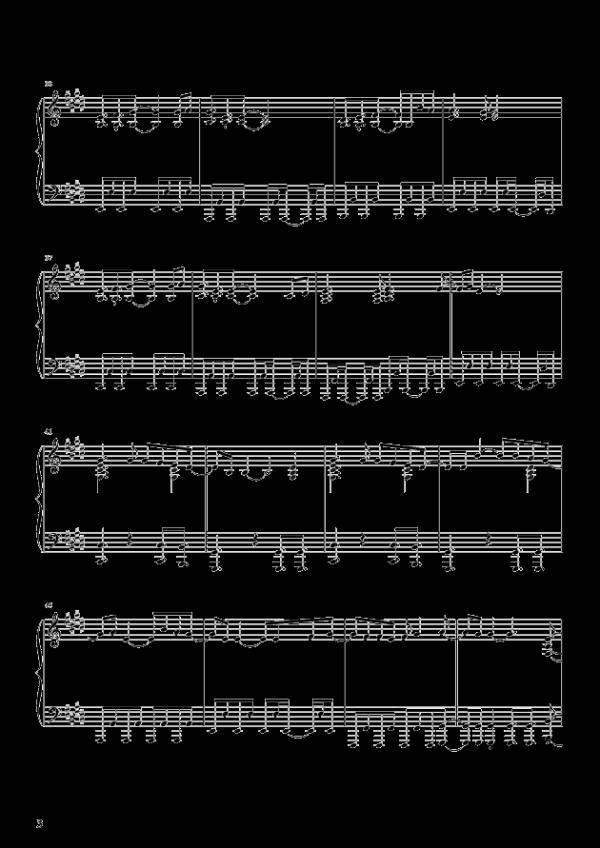 求助钢琴大神把这钢琴谱翻译成数字简谱,谢谢!