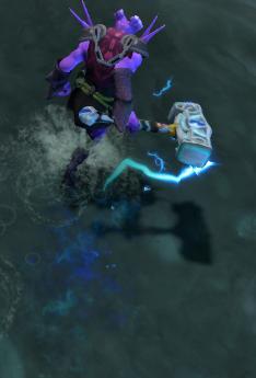 dota2虚空假面的武器饰品里雷锤有没有特效?