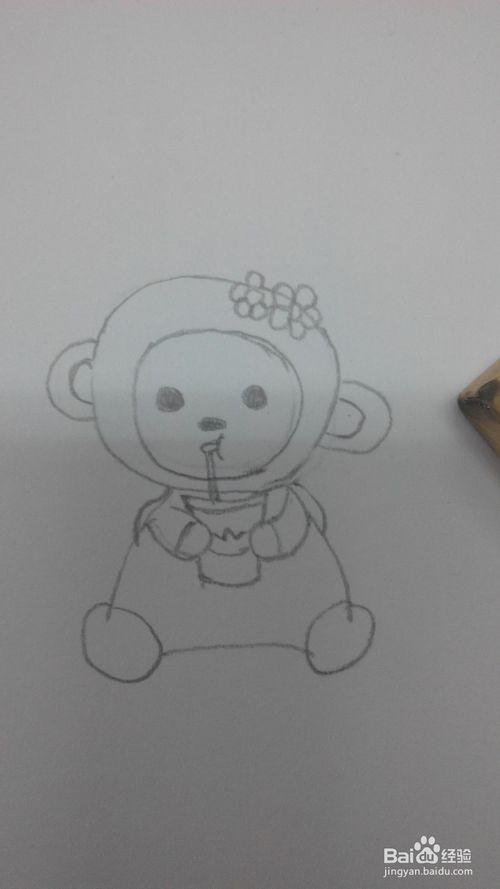 小免小狗小猫小猴怎么画
