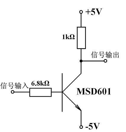 上图的放大电路就是反相放大器(共发射极放大电路).