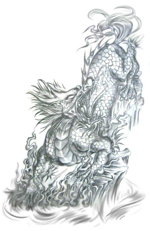 盗墓笔记张起灵麒麟纹身手稿图片