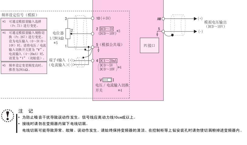变频器fr-d740-0.75k-cht接线图