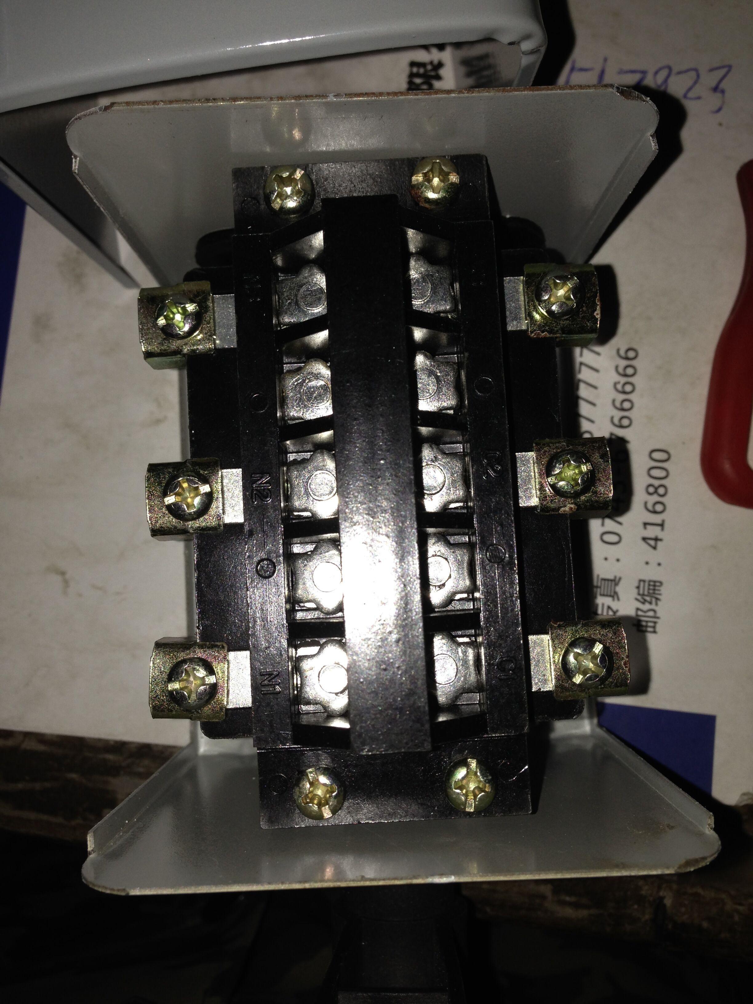 继续:单相异步电动机3kw接倒顺开关 4个接线柱
